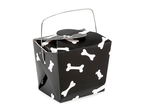 """**Dog Bone Take Out Favor Boxes, Small 2.75x2x2.5"""", 12 Pack"""