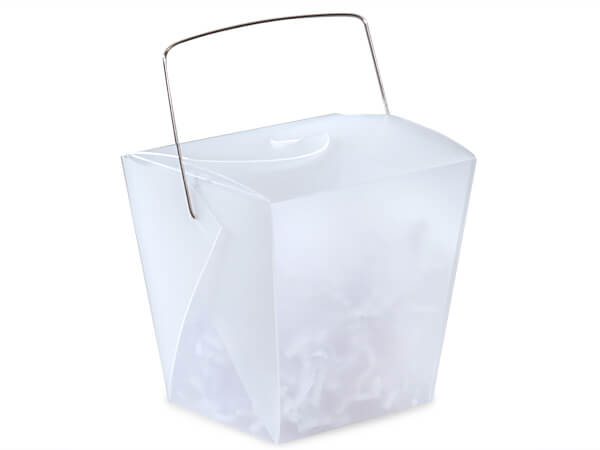 "White Take Out Favor Boxes, Large 4x3.5x4"", 12 Pack"