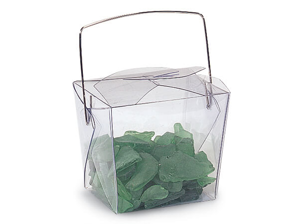 "Clear Take Out Favor Boxes, Small 2.75x2x2.5"", 12 Pack"