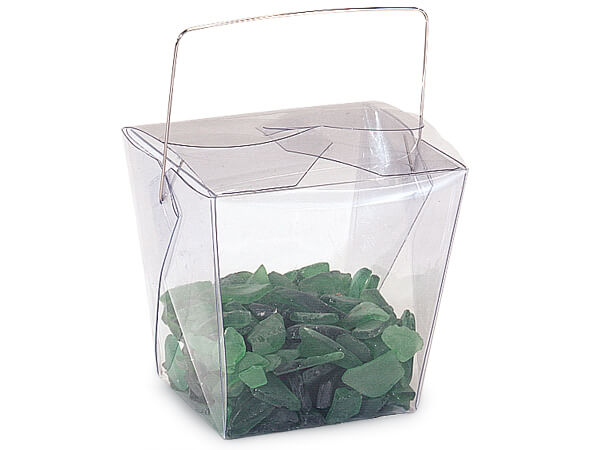 "Clear Take Out Favor Boxes, Large 4x3.5x4"", 12 Pack"