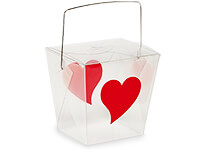 Heart Takeout Favor Boxes