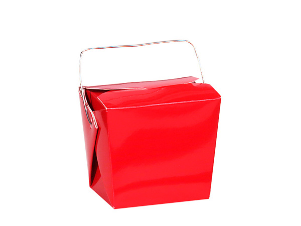 "**Red Gloss Take Out Favor Boxes, Small 2.75x2x2.5"", 12 Pack"