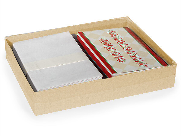 "11-1/4x8-3/4x2"" Clear Lid Boxes With Kraft Bases"