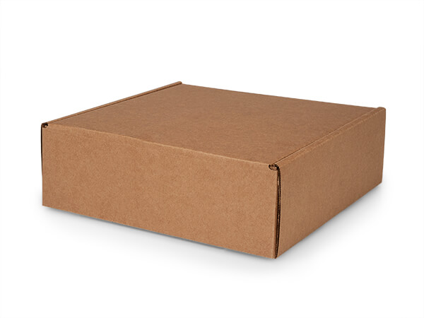 "Brown Kraft Tab Lock Mailer Boxes, 12x12x4"", 25 Pack"
