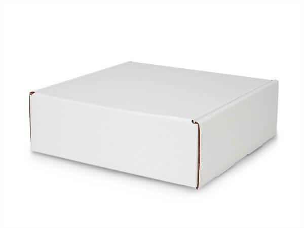 """White Kraft Tab Lock Mailer Boxes, 12x12x4"""", 25 Pack"""