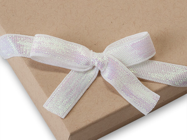 """12"""" Iridescent Stretch Wide Loops with Pre-Tied Bows, 50 pack"""