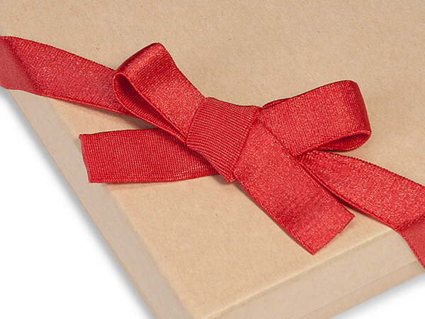 "12"" Red Satin Stretch Wide Loops with Pre-Tied Bows, 50 pack"