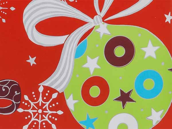 "Christmas Ornaments Wrapping Paper 24""x417' Counter Roll"