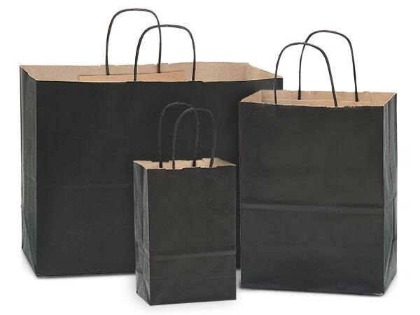 Black 100% Recycled Kraft Bag Assortment 125 Pack