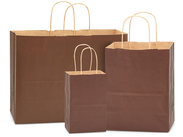 125 Chocolate Brown Bag Assortment 50 Rose, 50 Cub, 25 Vogue Bags