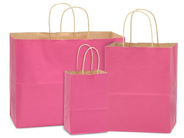 Lipstick Pink 100% Recycled Kraft Bag Assortment 125 Pack