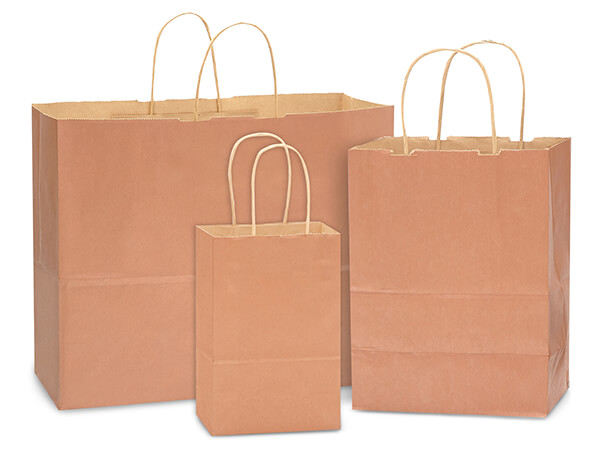 Metallic Copper 100% Recycled Kraft Bag Assortment 125 Pack
