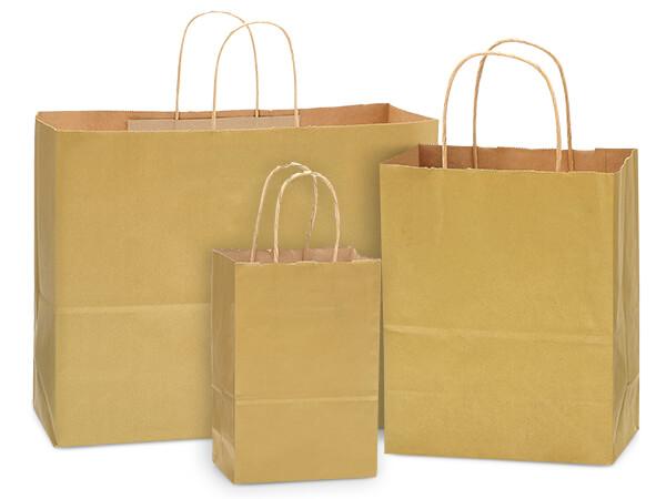 125 Metallic Gold Bag Assortment 50 Rose, 50 Cub, 25 Vogue Bags