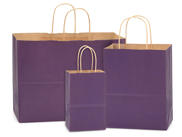 Purple 100% Recycled Kraft Bag Assortment 125 Pack