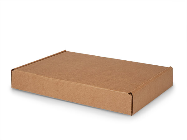 "Brown Kraft Tab Lock Mailer Boxes, 14x10x2"", 50 Pack"