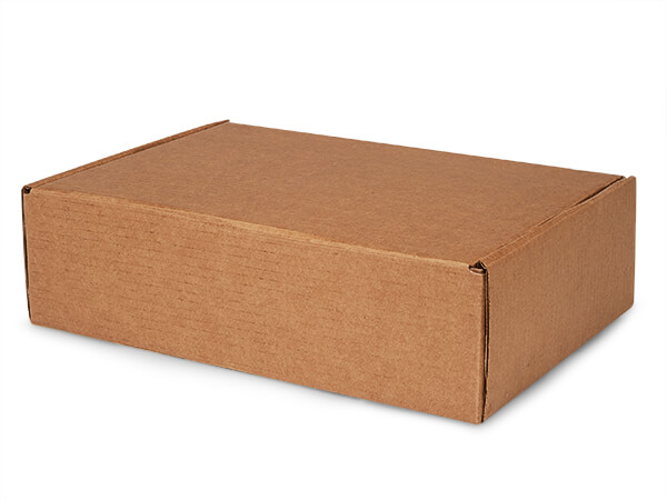 "Brown Kraft Tab Lock Mailer Boxes, 14x10x4"", 25 Pack"