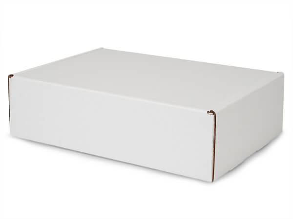 "White Kraft Tab Lock Mailer Boxes, 14x10x4"", 25 Pack"