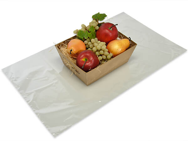 "Clear Shrink Basket Bags, 14x24"", 100 Pack"