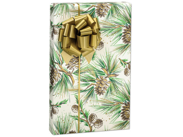 """Pine Boughs Wrapping Paper 24""""x417' Counter Roll"""