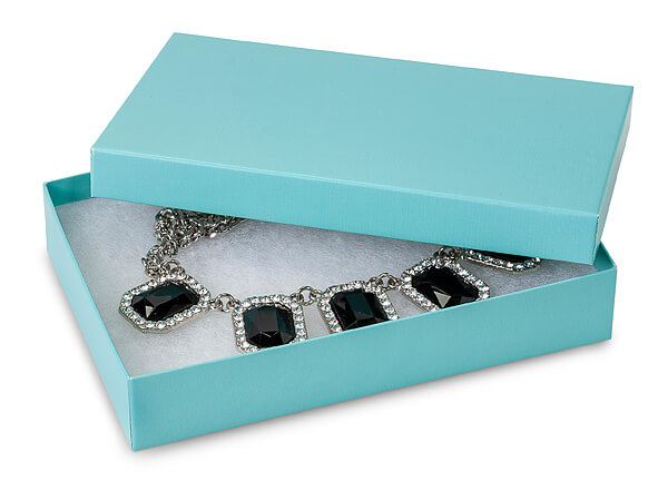Aqua Blue Jewelry Gift Boxes 5 5x3 5x1 Quot 100 Pack Cotton