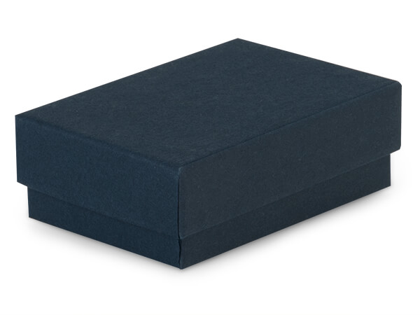 "Navy Blue Jewelry Gift Boxes, 5.5x3.5x1"", 100 Pack, Cotton Fill"