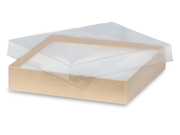 "5-1/2x3-1/2x1"" Clear Lid Boxes With Kraft Bases"