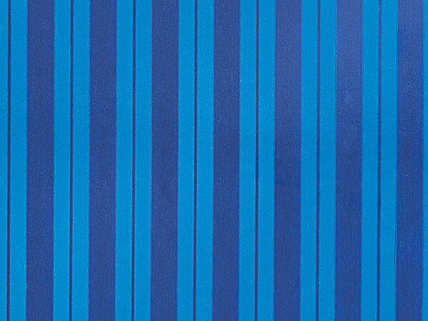 """Blue Stripe (foil) 24""""x85' Recycled Gift Wrap Cutter Box"""