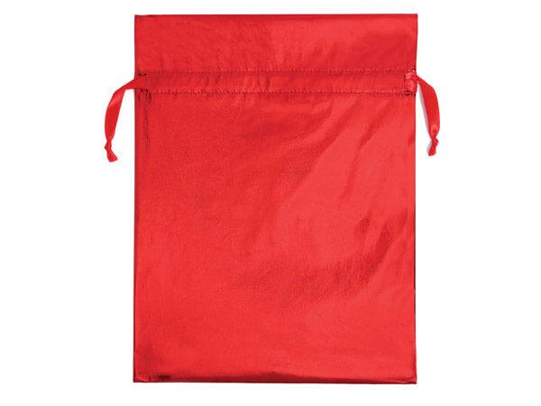 Metallic Red Fabric Gift Bags