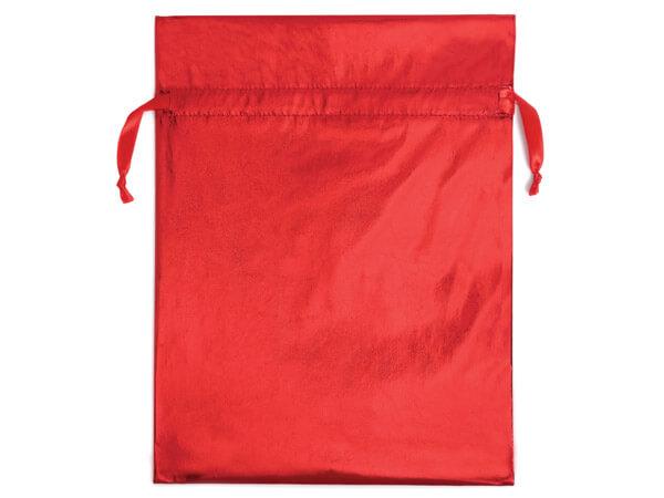 "Metallic Red Fabric Gift Bag, 16-1/2 x 22"", 3pk"