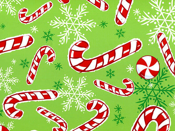 "Peppermint Snowflakes 24""x85' Roll Gift Wrap"