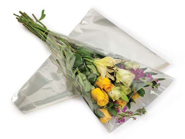 """Clear Bouquet Sleeves, 3 x 16 x 10"""",  50 Pack"""