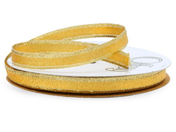 """Metallic Gold Ribbon, 3/8"""" x 25 yards"""