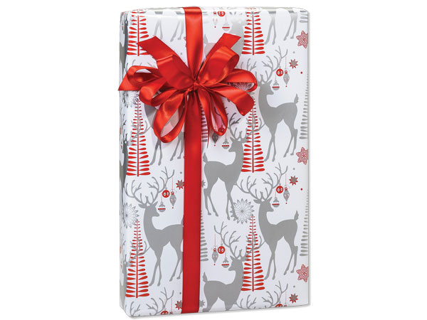 """Decorative Deer Wrapping Paper 24""""x417' Counter Roll"""