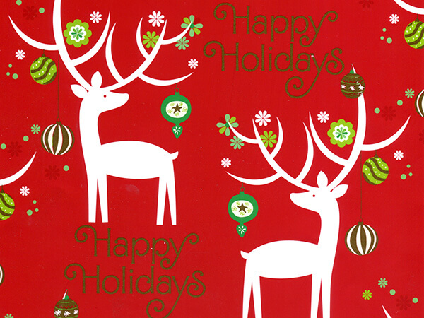 "Holiday Deer 24""x85' Roll Gift Wrap"