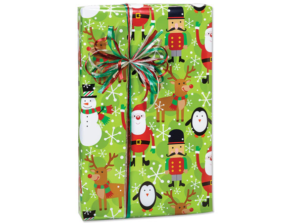 """Holiday Fun Wrapping Paper 24""""x417' Counter Roll"""
