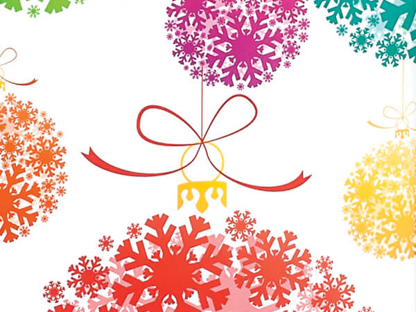 """Snowflake Ornaments 24""""x85' Roll Gift Wrap"""