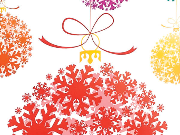 """Snowflake Ornaments 24""""x417' Roll Gift Wrap"""