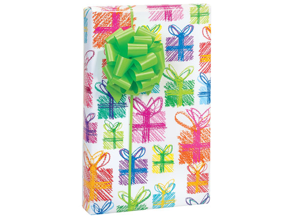 """Crayon Presents 24""""x85' Roll Gift Wrap"""