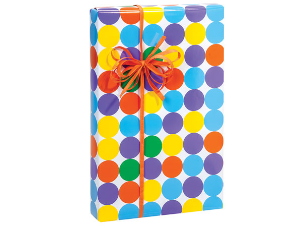"Bright Dots 24""x417' Gift Wrap Counter Roll"