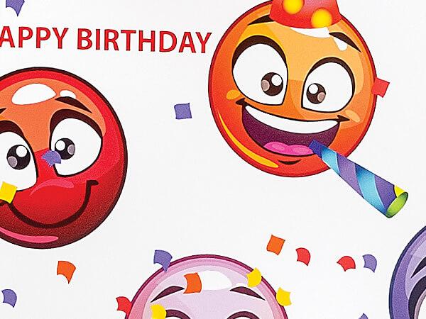 "Emoji Birthday  24""x417' Gift Wrap Counter Roll"