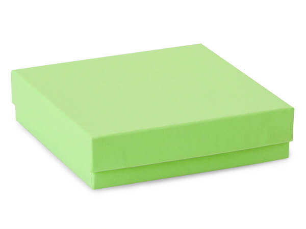 "Light Green Jewelry Gift Boxes, 3.5x3.5x1"", 100 Pack, Fiber Fill"