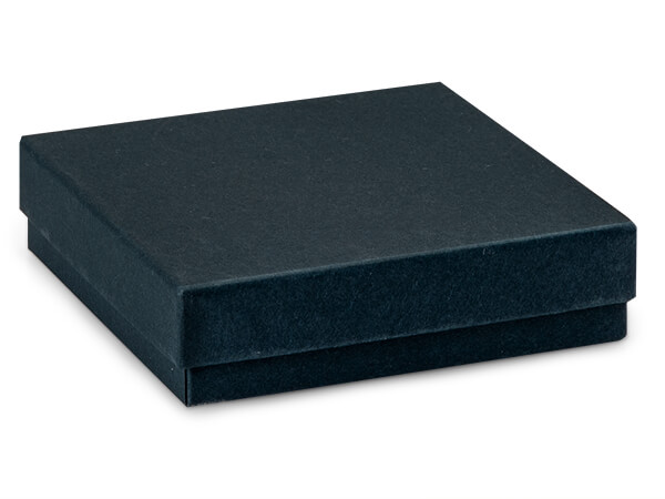"Navy Blue Jewelry Gift Boxes, 3.5x3.5x1"", 100 Pack, Cotton Fill"