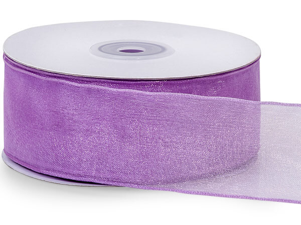 "Lavender Wired Encore Sheer Ribbon 1-1/2""x25 yds 100% Nylon"