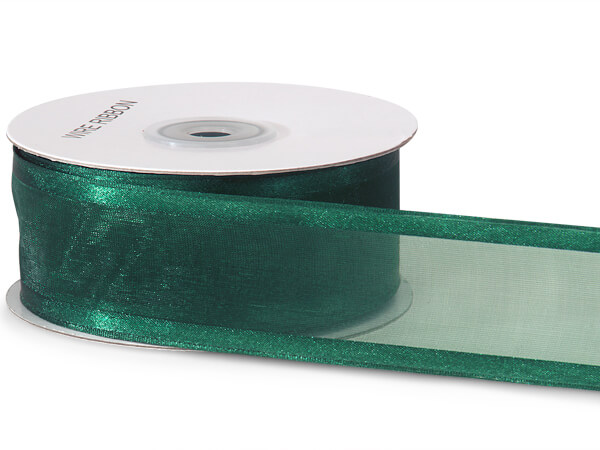 "Hunter Wired Satin Edge Sheer 1-1/2""x25 yds 100% Nylon Ribbon"