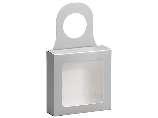 """Metallic Silver Wine Bottle Truffle Favor Box, 3.75x1.25x3.75"""", 6 Pack"""