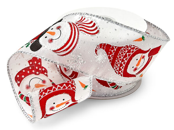 Snowman Wired Ribbon