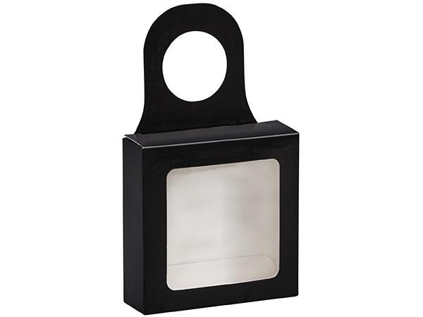 "Black Wine Bottle Truffle Favor Box 3.75x1.25x3.75"", 6 Pack"