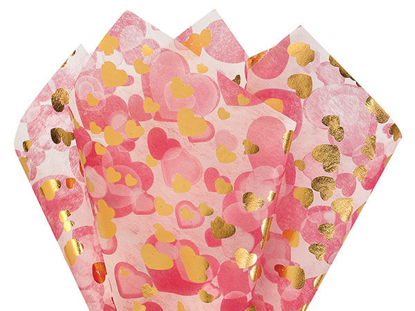 Hearts A Flame Non-Woven Sheets 20 x 28 with center X cut