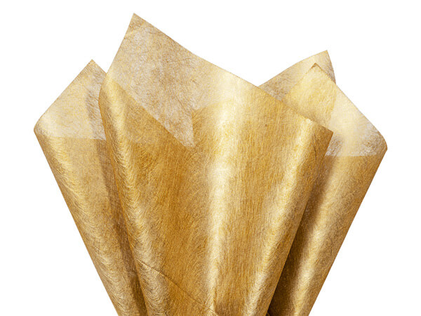 Gold Silken Fabric Sheets 20 x 28 with center X cut