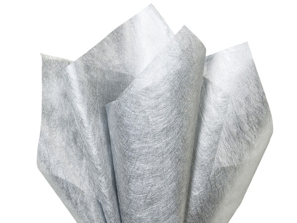 Silver Silken Fabric Sheets 20 x 28 with center X cut